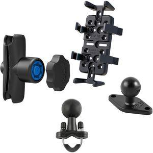 RAM Mounts univerzální držák na mobilní telefony, vysílačky, GPS navigace Finger-Grip s ramenem se zabezpečením a s nerez objímkou pro Ø12,7-25,4 mm, sestava RAM-B-149-UN4-KNOB3U