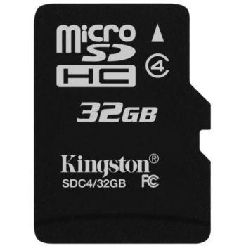 Kingston microSDHC 32GB Class 4 paměťová karta + SDHC adaptér
