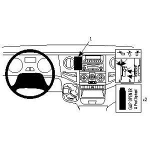 Brodit ProClip montážní konzole pro Iveco Daily 06-14, na střed vlevo