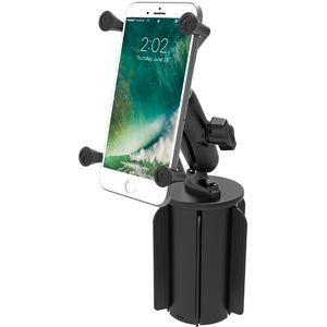 """RAM Mounts univerzální držák na mobil větší než 5"""" do auta do držáku na nápoje, X-Grip, vysokopevnostní plast, sestava RAP-299-3-UN10U"""