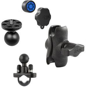 RAM Mounts držák na středně velké kamery a fotoaparáty s krátkým ramenem se zabezpečením na řídítka nebo tyč o Ø12,7-31,75 mm, sestava RAM-B-231Z-A-366-KNOB3U