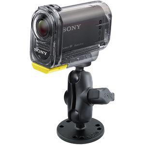 RAM Mounts držák se stativovým závitem pro středně velké kamery a foto do auta na palubní desku, bort kajaku, skútr, atd. na šroubky nebo vruty, AMPS, krátké rameno, sestava RAM-B-202-A-366U