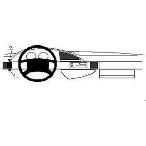 Brodit ProClip montážní konzole pro Lancia Zeta 95-01, vlevo