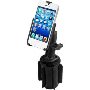 RAM Mounts držák na iPhone 5, 5S a SE do auta do držáku na nápoje, vysokopevnostní plast, sestava RAP-299-3-B-AP11U