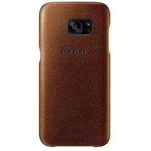 Samsung kožený zadní kryt pro Galaxy S7 edge, béžový