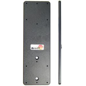Brodit montážní destička pro dva držáky na jeden ProClip s předvrtanými AMPS dírami, 155x50x5mm