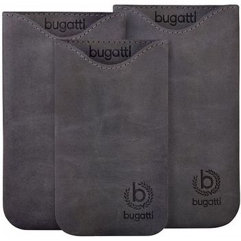 Bugatti Skinny Universal leather case XL - šedivé