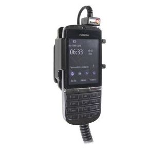 Brodit držák do auta na Nokia Asha 300 bez pouzdra, s nabíjením z cig. zapalovače