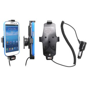Brodit držák do auta na Samsung Galaxy S4 a S III i9300 v pouzdru, s nabíjením z cig. zapalovače