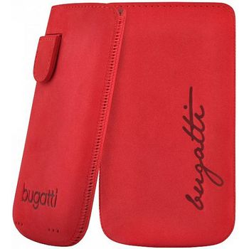 Bugatti Perfect Velvety leather case pro iPhone 4/4S - erven