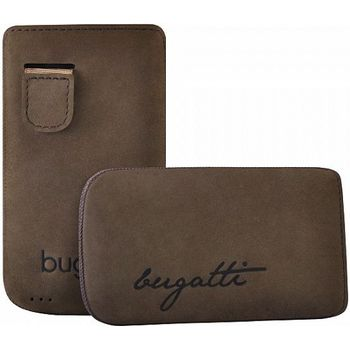 Bugatti Perfect Velvety leather case pro iPhone 4/4S - hnědé