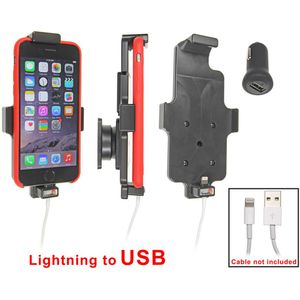 Brodit držák do auta na Apple iPhone 6 v pouzdru, s pružinou, s průchodkou pro Lightning kabel, CL