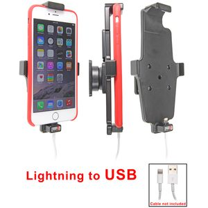 Brodit držák do auta na Apple iPhone 6/6S Plus v pouzdru, s pružinou, s průchodkou pro Lightning kab