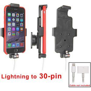 Brodit držák do auta na Apple iPhone 6/6S v pouzdru, s pružinou,s průchodkou pro Lightning na 30-pin