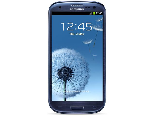 obsah balení Samsung Galaxy S III modrá + originální náhradní nabíječka Samsung