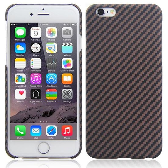 Karbonový kryt pro Apple iPhone 6S/6 hnědý matný