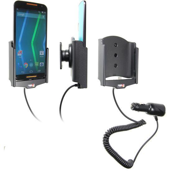 Brodit držák do auta na Motorola Moto X (druhá generace) bez pouzdra, s nabíjením z cig. zapalovače