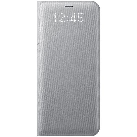 Samsung LED View Cover EF-NG955PS LED flipové pouzdro s kapsou na Galaxy S8+ stříbrné