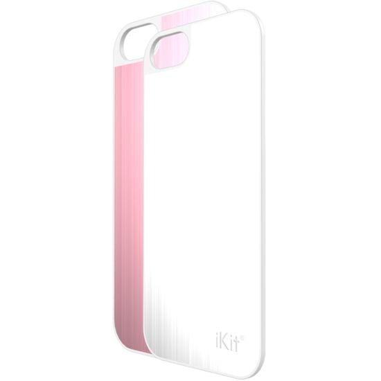 iKit Nucharge 2ks krytu k záložní baterii pro iPhone 5/5S, kožený růžový a bílý