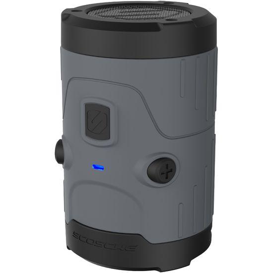 Scosche vodotěsný reproduktor boomBottle H20 BTH2OGY, šedý