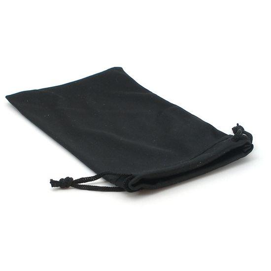 Sáček nejen pro mobilní telefon z mikrovlákna, 8x16cm, černý