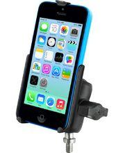 """RAM Mounts držák na iPhone 5C s lichoběžníkovým adaptérem a úchytem na motorku na řídítka místo šroubu 3/8""""-16, sestava RAM-B-236-238U-AP16U"""