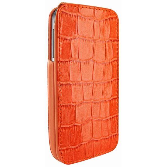 Piel Frama pouzdro pro Samsung Galaxy S4 iMagnum, Crocodile Orange