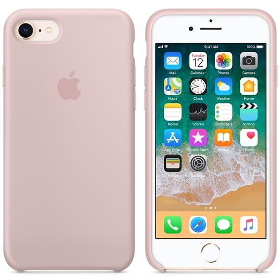 Apple silikonový kryt pro iPhone 8/7  pískově růžový