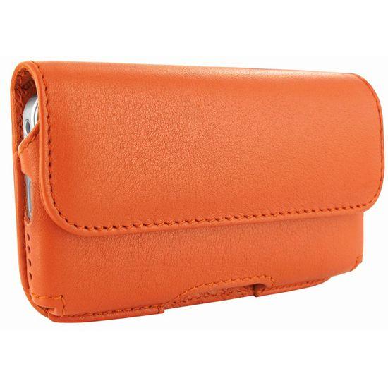 Piel Frama pouzdro pro iPhone 5 Horizontal, Orange