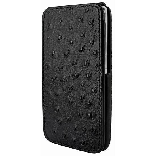 Piel Frama pouzdro pro HTC One iMagnum, Ostrich Black