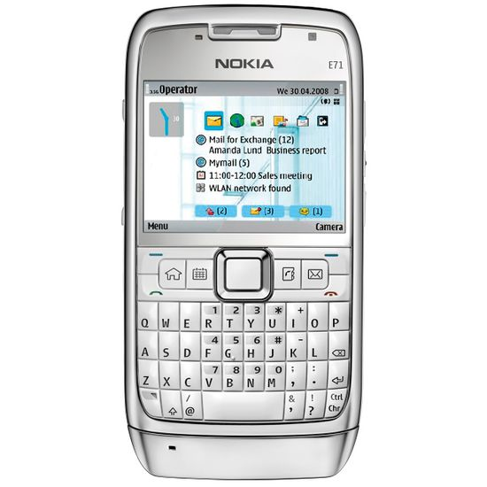 NOKIA E71 White Steel