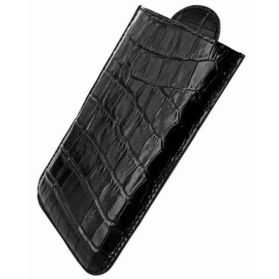 Piel Frama pouzdro pro HTC Sensation XL Pull Style, Crocodile Black