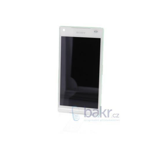 Náhradní díl LCD Display + dotyková deska + přední kryt na Sony E5823 Xperia Z5compact bílý