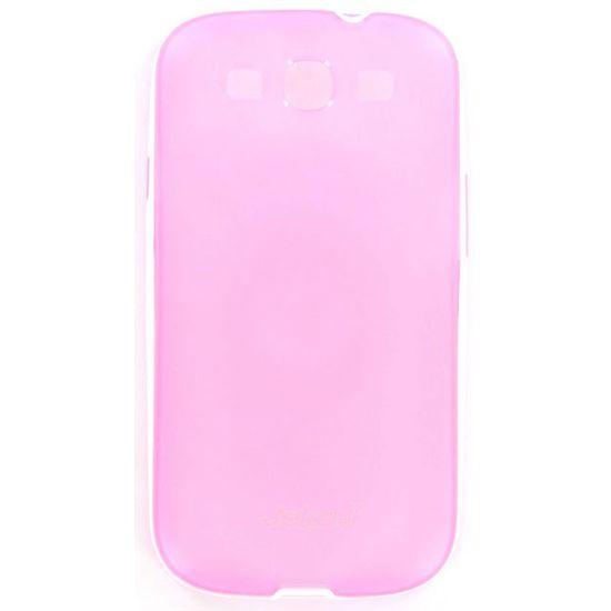 Jekod TPU silikonový kryt s rámečkem i9300 S3, růžová