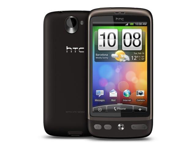 obsah balení HTC Desire + fólie Brando