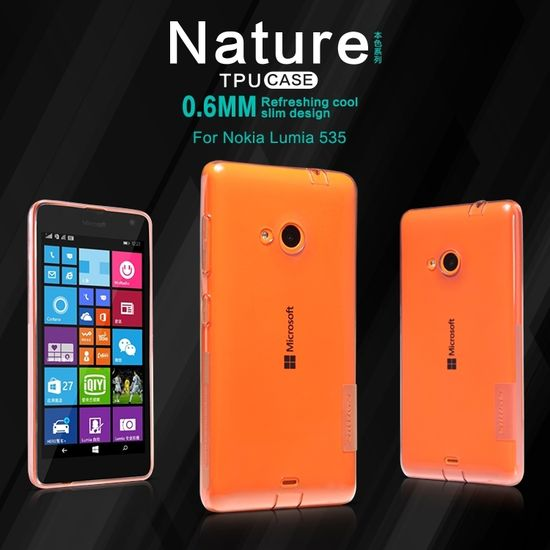 Nillkin pouzdro Nature TPU pro Nokia Lumia 535, hnědé