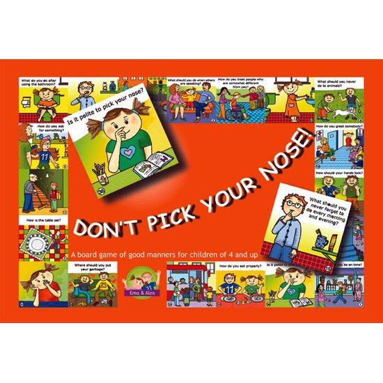 Hra Don't pick your nose! A Board Game Of Good Manners (En)