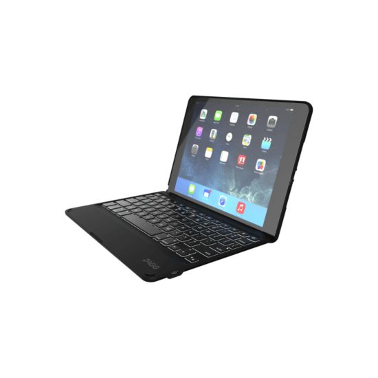 ZAGG Folio Case with Keyboard Apple iPad Air 2-Backlit-Black Case-Black-UK