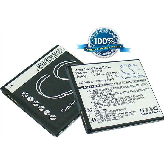 Baterie náhradní (ekv. BA750) pro Sony Ericsson Xperia Arc, Arc S, Li-ion 3,7V 1200mAh