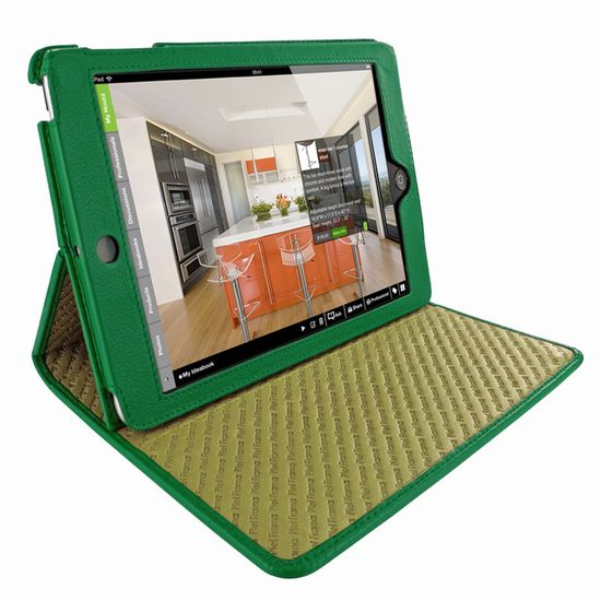 Piel Frama pouzdro pro iPad Mini Cinema Model, Green