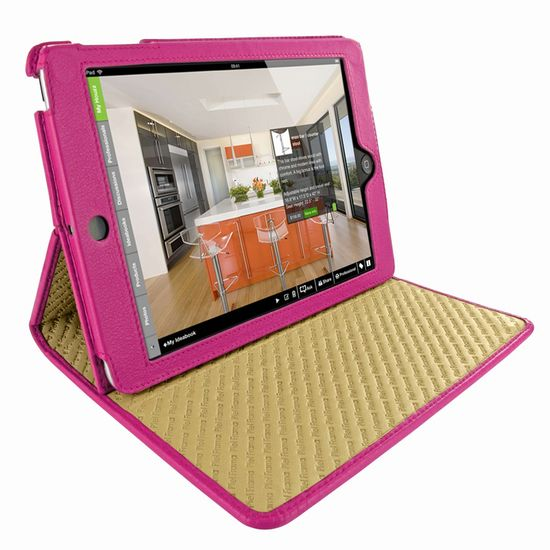 Piel Frama pouzdro pro iPad Mini Cinema Model, Crocodile Fuchsia