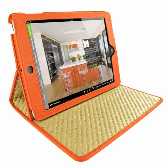 Piel Frama pouzdro pro iPad Mini Cinema Model, Crocodile Orange