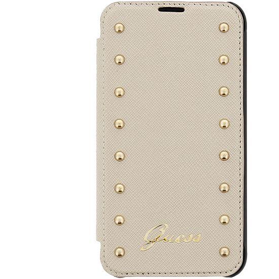 Guess flipové pouzdro Studded folio pro iPhone 6 Plus, béžová