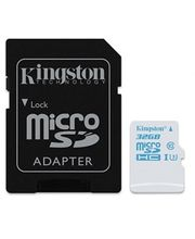 Kingston microSDHC 32GB UHS-I U3 Action Card, 45MB/s zápis + SD adaptér