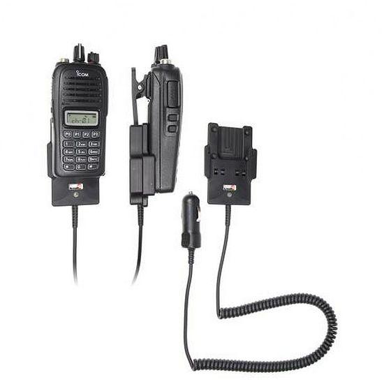 Brodit držák do auta na ICOM IC-F1000, IC-F2000 bez pouzdra, s nabíjením z cig. zapalovače