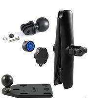 RAM Mounts adaptér pro outdoorové kamery GoPro Hero s dlouhým ramenem se zabezpečením na motorku na nádržku brzdové kapaliny, sestava RAM-B-183-GOP1-KNOB3-CU