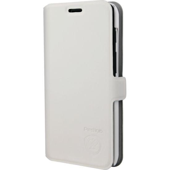 Prestigio flipové pouzdro pro Prestigio MultiPhone PSP3450 DUO, bílé