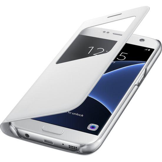 Samsung flipové pouzdro S View EF-CG930PS pro Galaxy S7, bílé