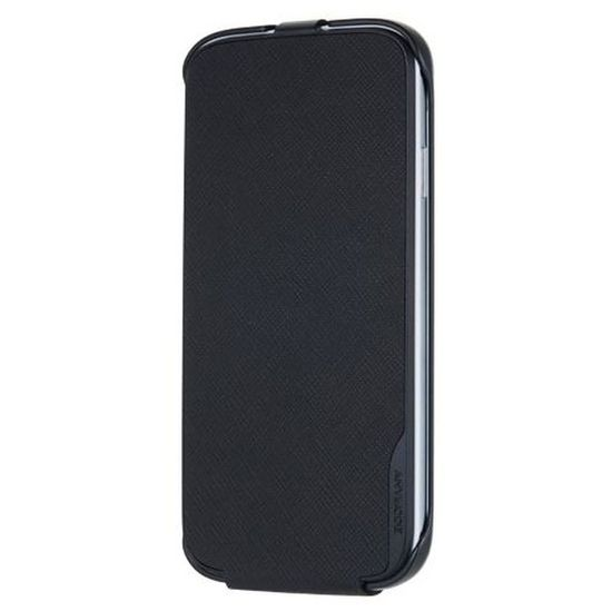 ANYMODE kožené pouzdro flap pro Samsung Galaxy S4, černé
