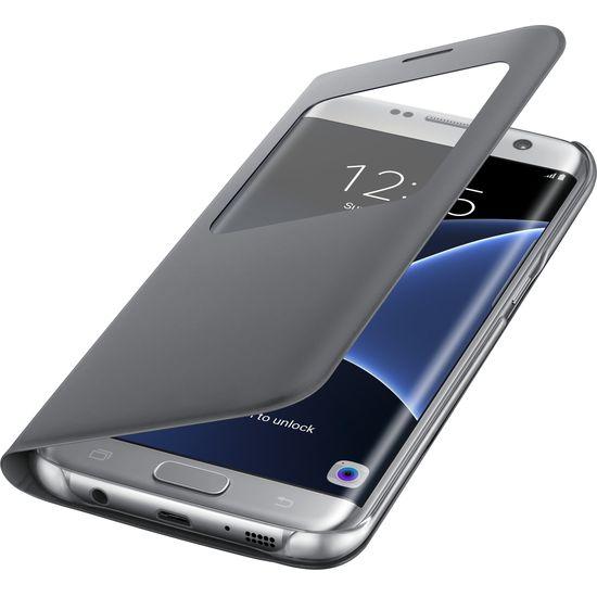 Samsung flipové pouzdro S View EF-CG935PS pro Galaxy S7 edge, stříbrné